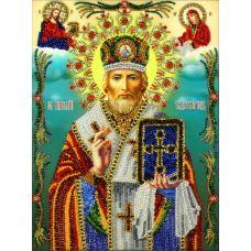 Набор для вышивания Святой Николай Угодник, 19,5x26, Вышиваем бисером