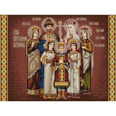 Ткань для вышивания бисером Царская семья, 29х39, Конек