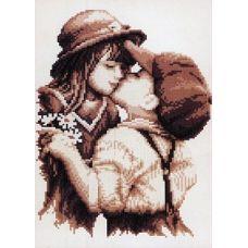 Набор для вышивания крестом Первая любовь, 30x35, Белоснежка
