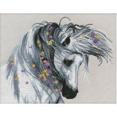 Набор для вышивания крестом Игривая лошадка , 40x30, Овен