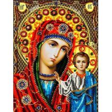 Набор для вышивания Казанская Богородица, 19x26, Вышиваем бисером