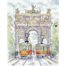 Набор для вышивания крестом Триумфальная арка, 22x18, Жар-Птица (МП-Студия)