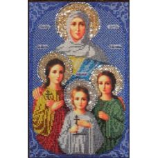 Набор для вышивания Святые Вера, Надежда, Любовь и Софья, 17x27, Вышиваем бисером