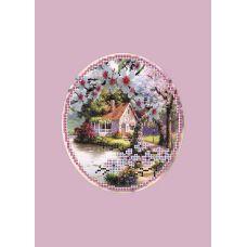 Набор для вышивания с бисером и паспарту Пора цветения, 24x26 (14x16), Матренин посад