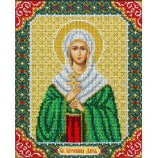 Набор для вышивания бисером Святая Мученица Дарья, 20x25, Паутинка