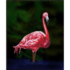 Набор для вышивания Фламинго, 18,5x25,5, Вышиваем бисером