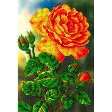 Набор для вышивания Цветущая роза, 19x27, Вышиваем бисером