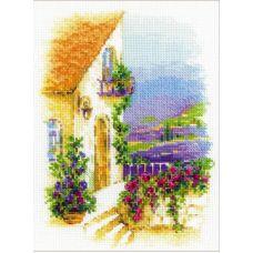 Набор для вышивания крестом Прованская улочка, 18x24, Риолис, Сотвори сама