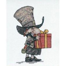 Набор для вышивания крестом Джентельмен с подарком, 9x14, НеоКрафт
