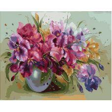 Живопись по номерам Ирисы в вазе, 40x50, Paintboy, GX9363