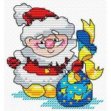 Набор для вышивания крестом Новый Год спешит на встречу, 15x10, Жар-Птица (МП-Студия)