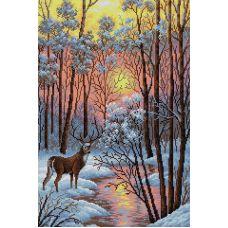 Алмазная мозаика В лесу, 40x60, полная выкладка, Вышиваем бисером