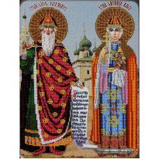 Набор для вышивания Святые Ольга и Владимир, 27x36, Вышиваем бисером