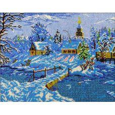 Набор для вышивания Зимняя сказка, 26x33,5, Вышиваем бисером