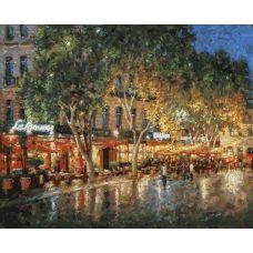 Живопись по номерам Ночные улицы Рима, 40x50, Белоснежка