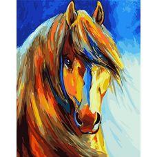 Живопись на холсте Золотой конь, 40x50, Paintboy, GX4734