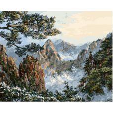 Живопись по номерам Китай. Хуаншань, 40x50, Белоснежка