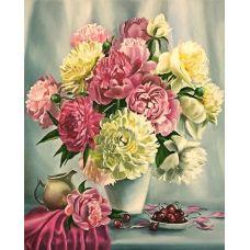 Живопись по номерам Пионы и вишня, 40x50, Paintboy, GX26464
