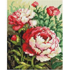 Алмазная мозаика Цветущий куст, 20x25, полная выкладка, Белоснежка