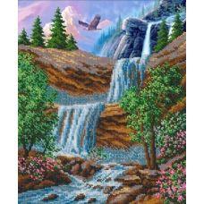 Набор для вышивания Водопад, 31x26, Русская искусница