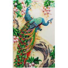 Набор для вышивания бисером Павлины, 40x25, МП-Студия