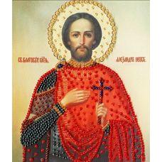 Набор для вышивания бисером Икона Святого Благоверного Великого Князя Александра Невского, 15x12,5, Золотое руно