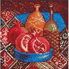 Алмазная мозаика Гранаты, 20x20, полная выкладка, Риолис