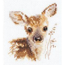 Набор для вышивания крестом Животные в портретах. Олененок, 7x9, Алиса