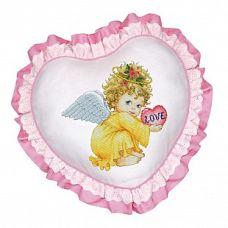 Набор для вышивания крестом Подушка Маленький ангел, 45x45, Белоснежка