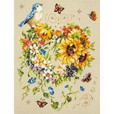 Набор для вышивания крестом Вдохновение сердца, 26x34, Чудесная игла