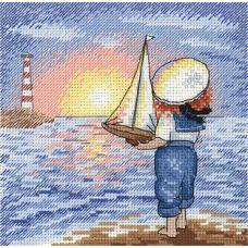 Набор для вышивания крестом Маленький капитан, 15x15, МП-Студия