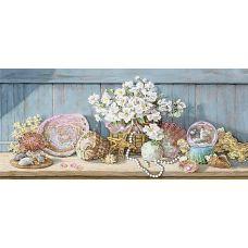 Набор для вышивания бисером Морской этюд, 24x47 (17x38), Матренин посад