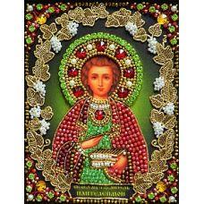Набор для вышивания хрустальными камнями Святой Пантелеймон, 15,5x20,5, Хрустальные Грани