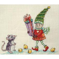 Набор для вышивания крестом Подарок для мышонка, 16x19, НеоКрафт