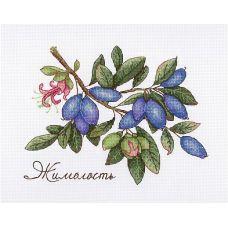 Набор для вышивания крестом Дары природы. Жимолость, 15x20, МП-Студия