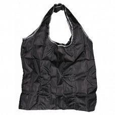 Сумка складная Фиалка черная, 45x62 (сумка) 8x11x2 (чехол), Белоснежка