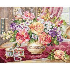 Набор для вышивания крестом Розы в гостиной, 39x33, Алиса
