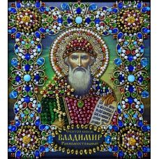 Набор для вышивания хрустальными камнями Святой Владимир, 16,5x19, Хрустальные Грани