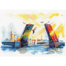 Набор для вышивания крестом Дворцовый мост , 28x18, Овен
