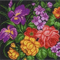 Набор для вышивания крестом Цветы, 41x41 (34x34), Матренин посад