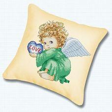 Набор для вышивания крестом Подушка Милый ангел, 45x45, Белоснежка