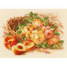 Набор для вышивания крестом Сочный персик, 40x30, Риолис, Сотвори сама