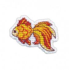 Набор для вышивания крестом Значок. Рыбка, 4,5x3,5, Овен