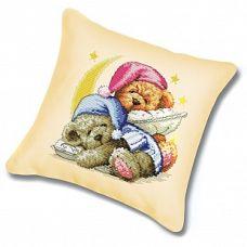 Набор для вышивания крестом Подушка Два медвежонка, 45x45, Белоснежка