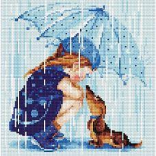 Алмазная мозаика Дождик, 27x27, полная выкладка, Риолис