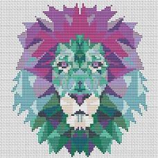 Набор для вышивания крестом Лев, 15.8x17,6, Тутти