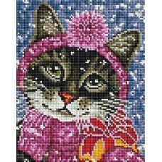 Алмазная мозаика Канун Нового года, 20x25, полная выкладка, Белоснежка