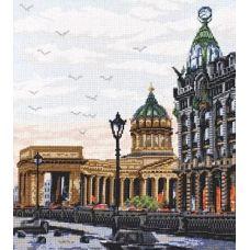 Набор для вышивания Дом компании Зингер, 27x30, Палитра
