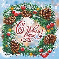 Рисунок на габардине С Новым Годом!, 40x40 (28x28), МП-Студия, Г-170