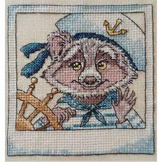 Набор для вышивания крестом Морской волк, 11x11, НеоКрафт